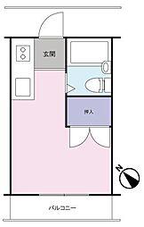 トーシンコーポマツバラ[305号室]の間取り