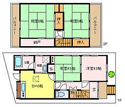 [一戸建] 大阪府堺市西区上 の賃貸【/】の間取り