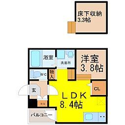 (仮称)鳴海町字京田Bコーポ[1階]の間取り
