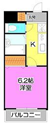 ドミール上福岡[1階]の間取り