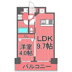 ズーム横浜[4階]の間取り