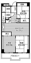 ビレッジハウス栃木日ノ出タワー1号棟[7階]の間取り