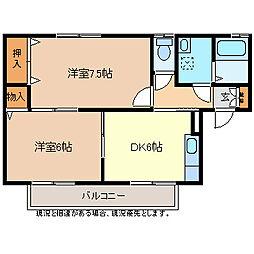 ファミール稲田[2階]の間取り