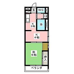 高蔵ビレッジ[3階]の間取り