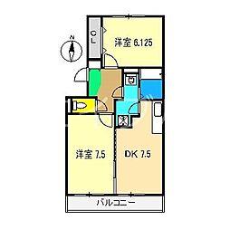 アムール(杉井流)[3階]の間取り