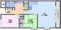 東川ビル[202号室]の間取り