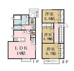 (仮称)草加市栄町2丁目計画[102号室]の間取り