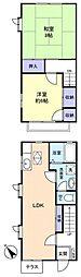 [テラスハウス] 千葉県八千代市ゆりのき台5丁目 の賃貸【/】の間取り