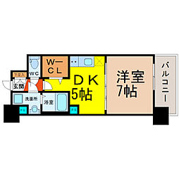 愛知県名古屋市中区栄5の賃貸マンションの間取り