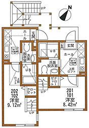 ハーミットクラブハウス栗木KI[1階]の間取り