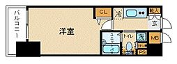 トーシンフェニックス新横濱イクシール[708号室]の間取り
