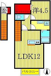 ベルリード若葉台[2階]の間取り