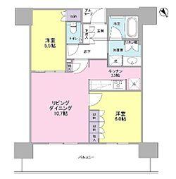 ザ・パークハウス中之島タワー[15階]の間取り