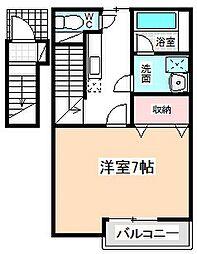 愛知県名古屋市名東区小池町の賃貸アパートの間取り