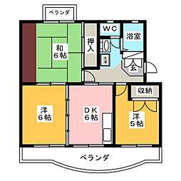 グリーンハイツ青葉台[1階]の間取り