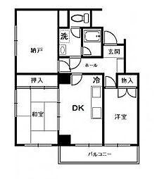 神奈川県厚木市旭町2丁目の賃貸マンションの間取り