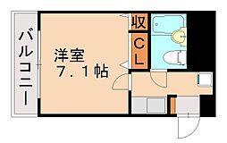 ダイレイキュービックVII[2階]の間取り