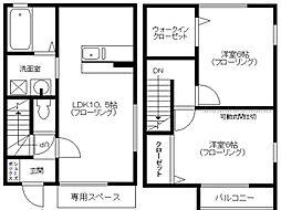 [タウンハウス] 千葉県市川市南行徳2丁目 の賃貸【/】の間取り