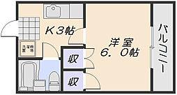 コーポフリューゲル[2階]の間取り