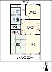エクシードB・C[1階]の間取り