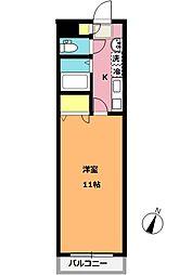 埼玉県上尾市浅間台2丁目の賃貸アパートの間取り