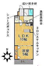 愛知県名古屋市千種区向陽町3丁目の賃貸マンションの間取り