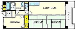 ロイヤルツカワキ[7階]の間取り