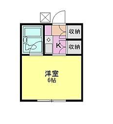 三鈴ハイツ[1階]の間取り