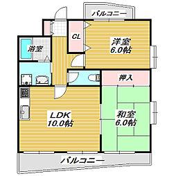 エレガンスヴィラ[4階]の間取り
