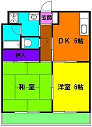静岡県浜松市東区大島町の賃貸マンションの間取り
