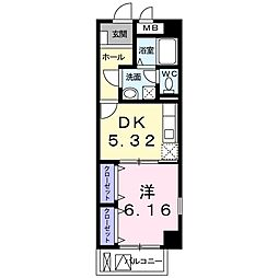 神奈川県横浜市鶴見区向井町2丁目の賃貸マンションの間取り