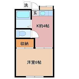 コーポさくらぎ[1階]の間取り
