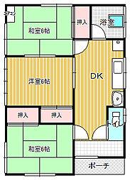 [一戸建] 茨城県土浦市小松1丁目 の賃貸【茨城県 / 土浦市】の間取り