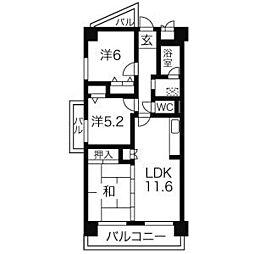 サーン・レイ[2階]の間取り