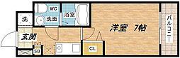 セレニテ本町ROJI02[6階]の間取り
