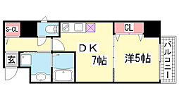 兵庫県神戸市中央区磯辺通2丁目の賃貸マンションの間取り