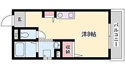 兵庫県加古川市平岡町新在家1丁目の賃貸アパートの間取り