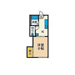 古松台ハイツC[1階]の間取り
