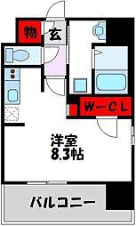 西鉄天神大牟田線 高宮駅 徒歩21分の賃貸マンション 2階1Kの間取り