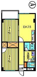 第二彦田マンション[2階]の間取り