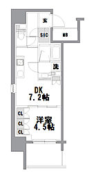 ザ・パークハビオ堂島[901号室]の間取り