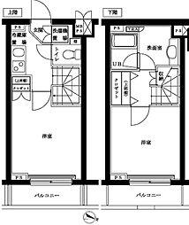 ルーブル高円寺参番館[101号室号室]の間取り