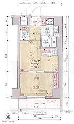 ベラジオ京都西院ウエストシティ3 3階1DKの間取り