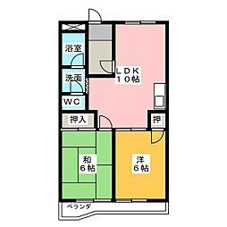 レジデンスオーミ[2階]の間取り