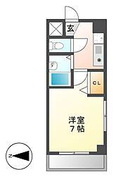 イヅミマンション[6階]の間取り