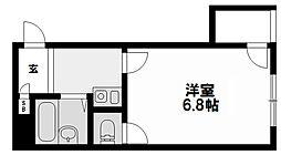 ジオナ新大阪[606号室]の間取り