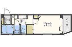 三愛室見マンション[3階]の間取り