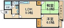 エルトレスB[4階]の間取り
