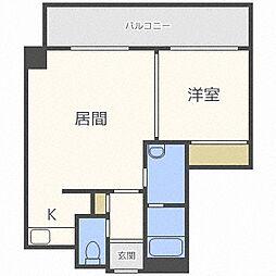 ・セルベッサ札幌レジデンス[9階]の間取り
