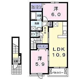 レジデンス桜[202号室]の間取り